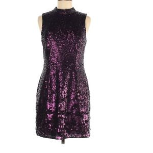 NWT French connection purple sequin dress size 8
